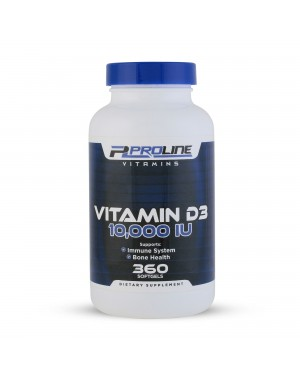 Vitamina D3 10.000 360 softgels PLV Proline Vitamins - Frete Grátis