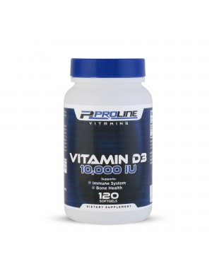 Vitamina D3 10.000 120 softgels PLV Proline Vitamins - Frete Grátis