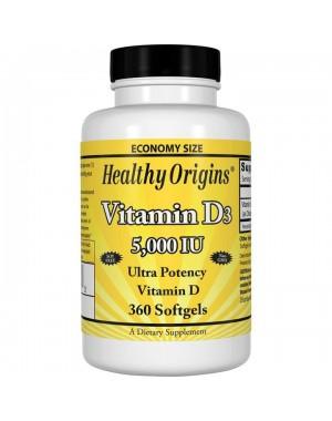Vitamina D3 5000iu 360 softgels HEALTHY Origins