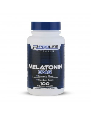 Melatonina 3mg 100 Chewable Tablets PLV Proline Vitamins - Frete Grátis