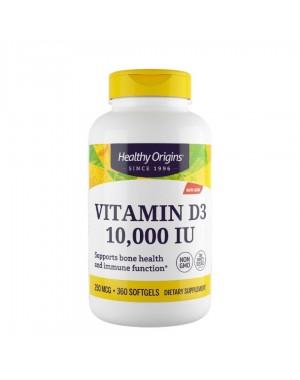 Vitamina D3 10000 IU 360 softgels HEALTHY Origins