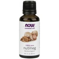 Óleo essencial de noz moscada Nutmeg 1oz 30ml NOW Foods