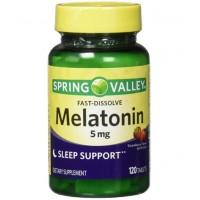 Melatonina 5mg FD 120 tablets morango SPRING Vl: set/21