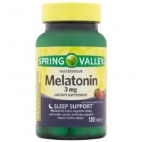 Melatonina 3mg FD 120 tablets morango SPRING Valley val:10/21