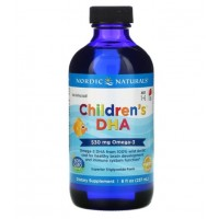 Children DHA 8oz 237ml sabor morango NORDIC Naturals