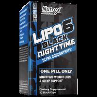 LIPO 6 BLACK NIGHTTIME 30 BLACK-CAPS NUTREX