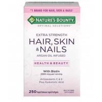 Hair Skin e Nails Cabelo, pele e unha com biotin 250softgels NATURE Bounty